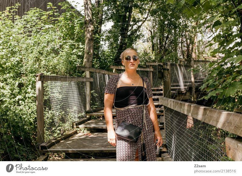 rave on Lifestyle Style Feminine Young woman Youth (Young adults) 18 - 30 years Adults Environment Nature Landscape Summer Beautiful weather Tree Forest Fashion