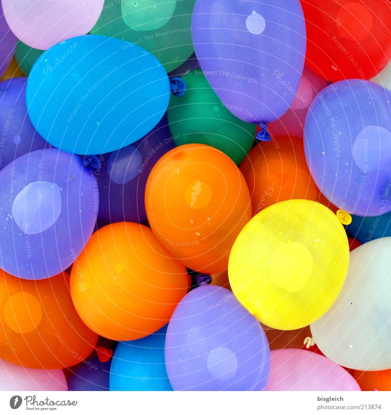 water bombs Joy Playing Party Balloon Plastic Happiness Fresh Funny Wet Round Multicoloured Happy Joie de vivre (Vitality) Life Knot Play of colours Dye