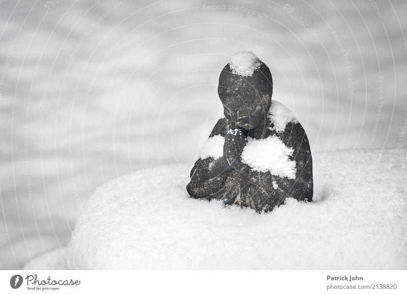 Silence in the snow Wellness Harmonious Calm Meditation Snow Stone Relaxation Healthy Happy Joie de vivre (Vitality) Safety (feeling of) Warm-heartedness