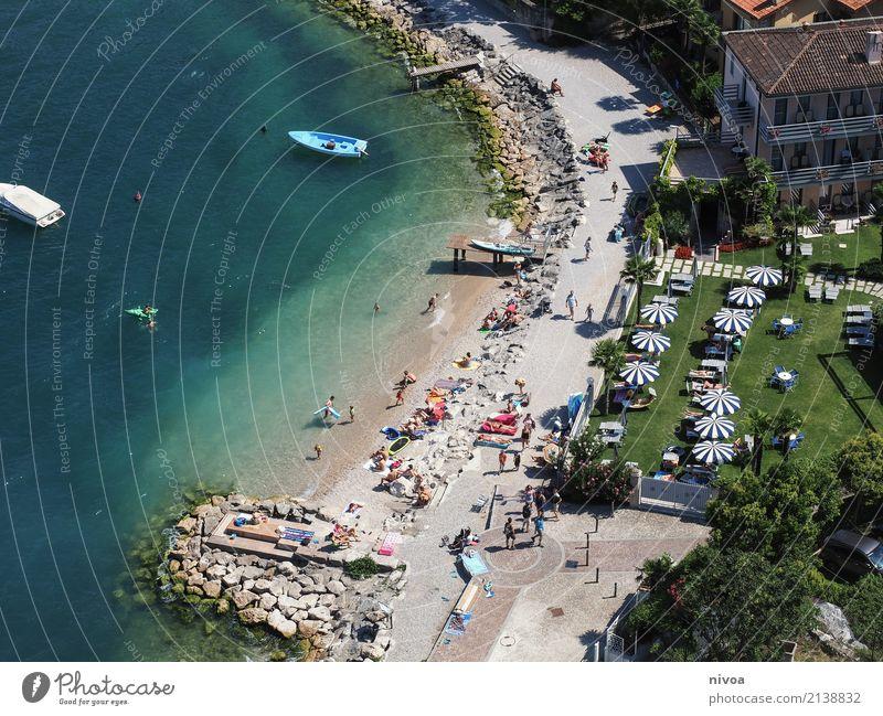 Lake Garda Vacation & Travel Tourism Trip Sightseeing Human being Masculine Feminine Crowd of people Environment Summer Beautiful weather Coast Lakeside