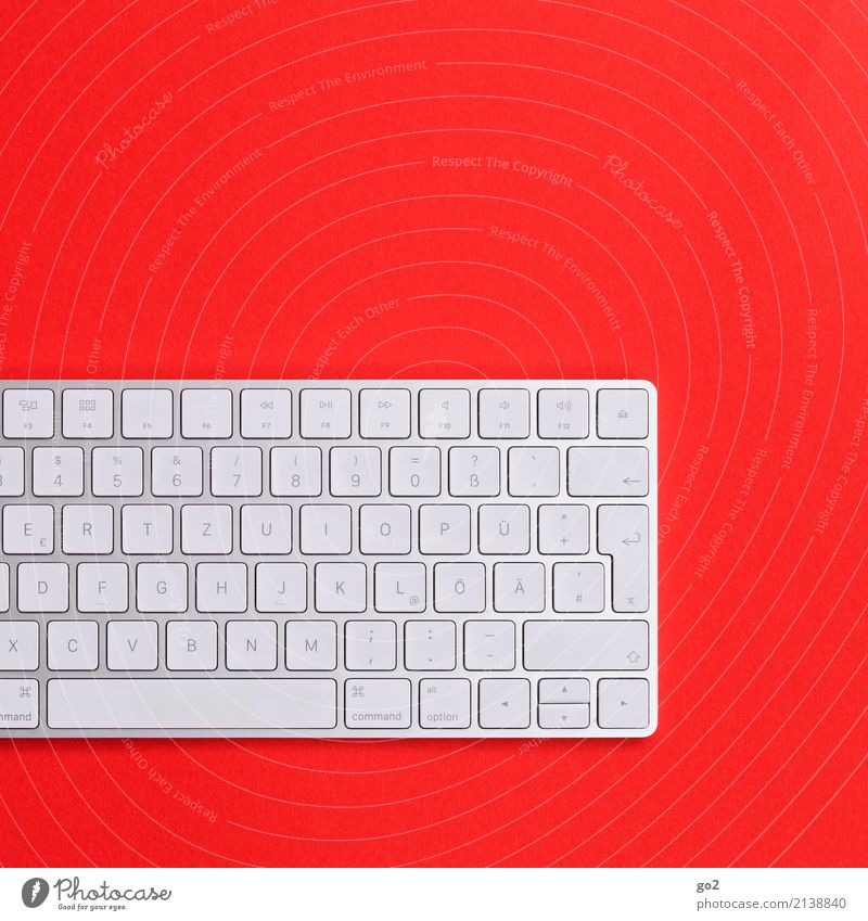 Keyboard on red background Work and employment Profession Office work Workplace Services Media industry Advertising Industry Business Hardware Technology