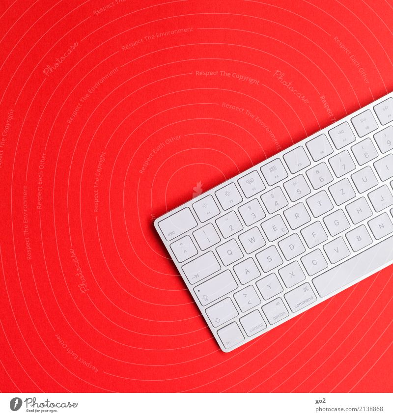 Keyboard on red Education Science & Research School Professional training Academic studies Work and employment Office work Workplace Services Media industry
