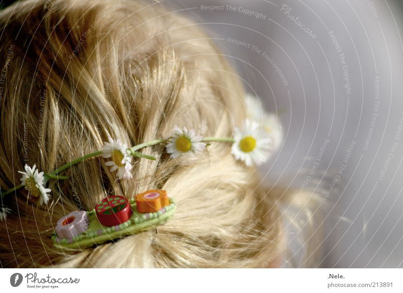 Human being Child Girl White Yellow Feminine Emotions Hair and hairstyles Head Contentment Moody Blonde Joie de vivre (Vitality) Infancy Blossoming Jewellery