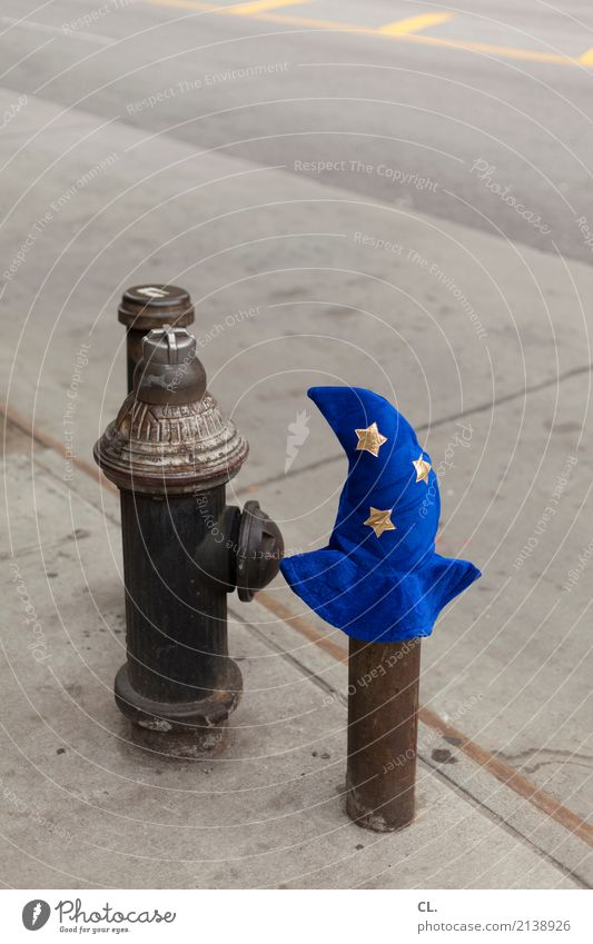 Blue Street Funny Lanes & trails Exceptional Transport USA Uniqueness Star (Symbol) Change Hat Traffic infrastructure Whimsical Costume Carnival costume Magic