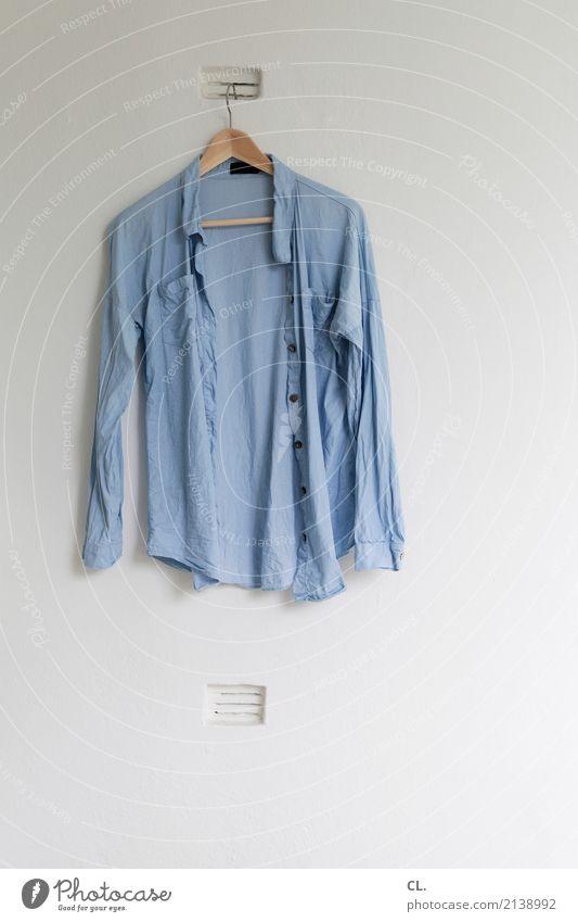 Blue Wall (building) Wall (barrier) Fashion Flat (apartment) Living or residing Room Cloth Balcony Shirt Hang Dry Hanger Vent slot