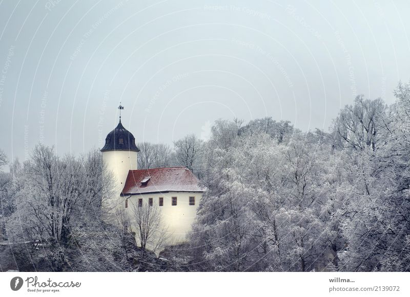 Rabenstein castle in the winter forest Winter Forest Chemnitz raven stone Castle Manmade structures Building Architecture Rabenstein Castle Historic