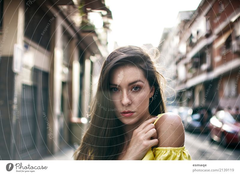 girl on the street Human being Youth (Young adults) Young woman Town Joy 18 - 30 years Adults Lifestyle Emotions Natural Feminine Style Exceptional Think Design
