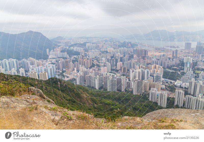 Hong Kong Panorama of Lion Rock Trip Island Mountain Nature Skyline Architecture Beautiful panorama Lion skirt lion rock hill Vantage point China Hongkong