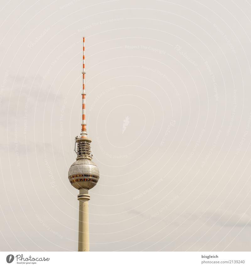 White Red Berlin Gray Germany Brown Europe Tourist Attraction Landmark Capital city Berlin TV Tower Antenna