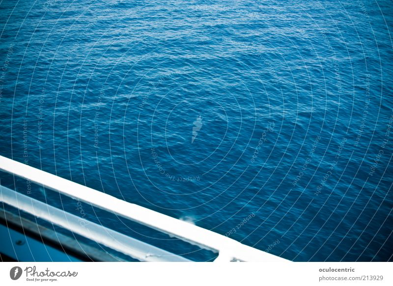 Vacation & Travel Blue Water Ocean Far-off places Environment Waves Beautiful weather Hot Navigation Surface of water Railing Vignetting Gorgeous