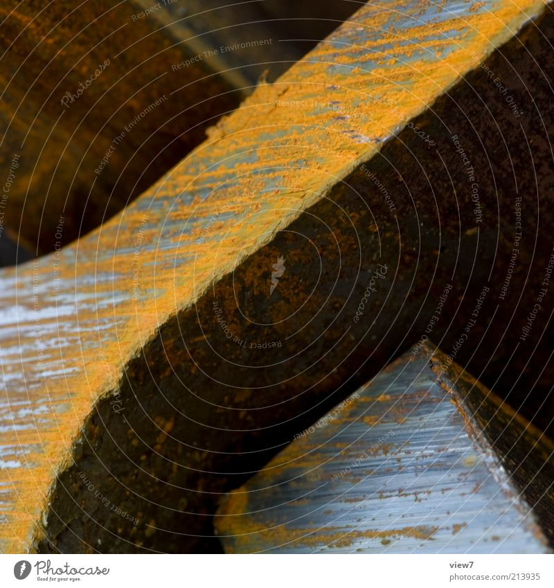 Dark Cold Brown Metal Industry Esthetic Authentic Construction site Steel Rust Macro (Extreme close-up) Stack Divide Surface Heavy Sharp-edged