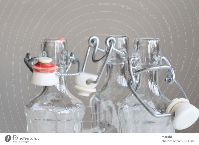 Red Gray Bright Glass Empty Open Clarity Bottle Bottle of beer Neck of a bottle Containers and vessels Food Nutrition Spirits Closure Bottle lid
