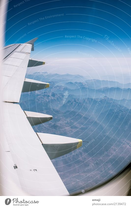 Sky Nature Vacation & Travel Blue Summer Mountain Environment Natural Beautiful weather Wing Floating View from the airplane
