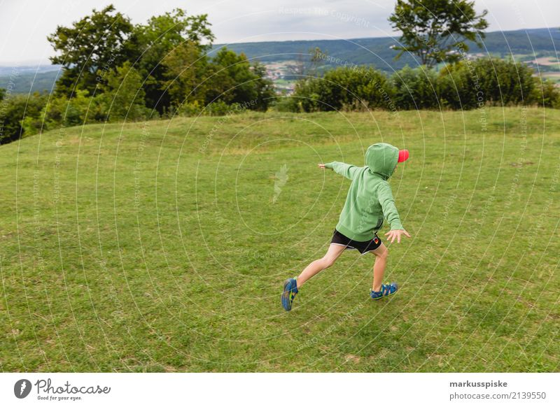 Boy flies away Leisure and hobbies Playing Children's game Trip Adventure Far-off places Freedom Expedition Camping Summer vacation Hiking Garden Masculine
