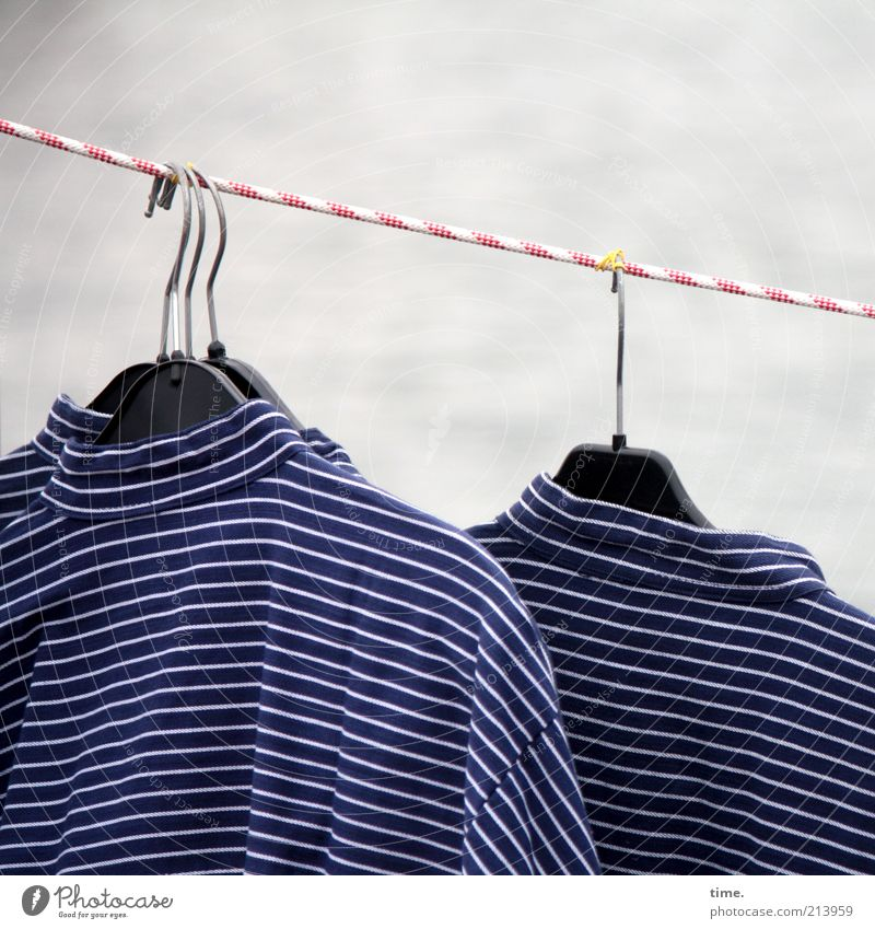 Rope Clothing Stripe String Shirt Row Hang Markets Sell Striped Goods Costume Offer Maritime Characteristic Hanger