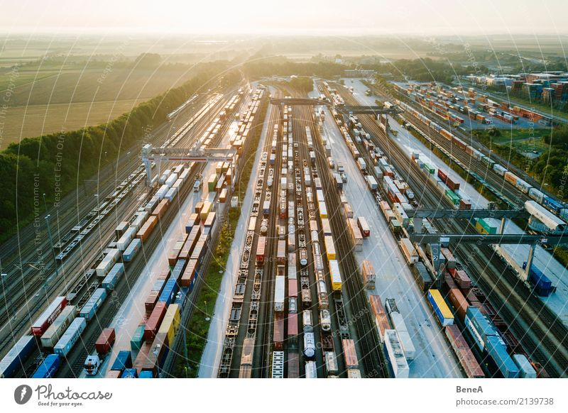 Business Transport Growth Technology Future Industry Railroad Logistics Economy Traffic infrastructure Trade Storage Truck Crane Train station Station