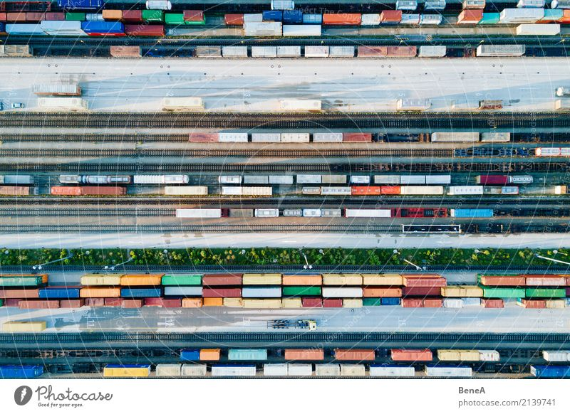 Business Transport Technology Perspective Industry Logistics Economy Railroad tracks Traffic infrastructure Trade Storage Truck Train station Station Container