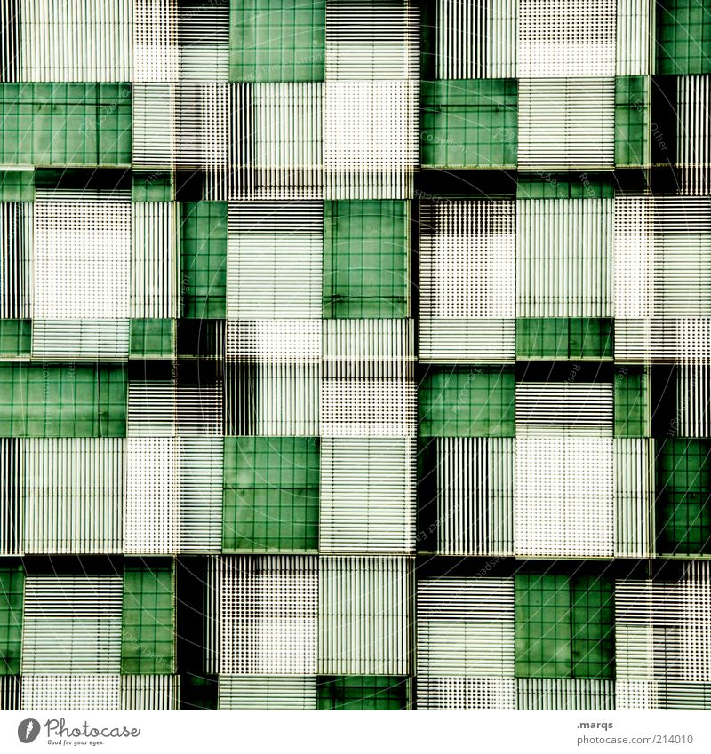 White Green Black Style Line Background picture Facade Abstract Design Modern Exceptional Crazy New Lifestyle Cool (slang) Manmade structures