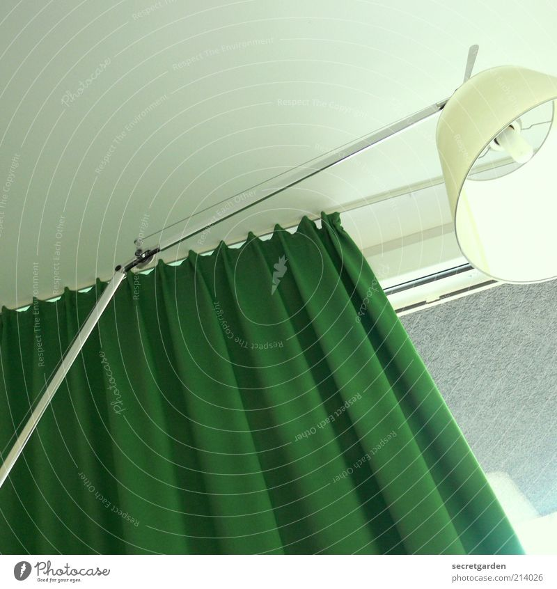 Green White Cold Window Lamp Bright Lighting Room Flat (apartment) Interior design Design Perspective Living or residing Round Cloth Soft