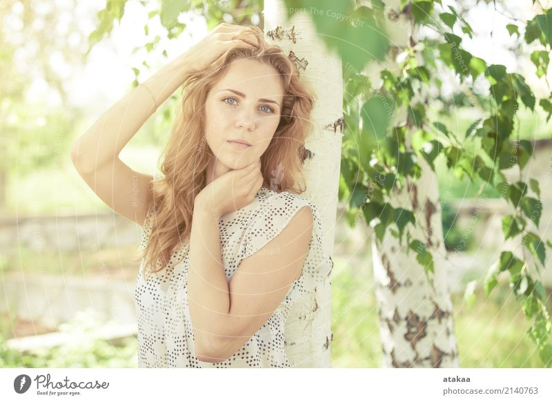portrait of a beautiful young happy girl Lifestyle Joy Happy Beautiful Face Relaxation Leisure and hobbies Freedom Summer Sun Human being Woman Adults