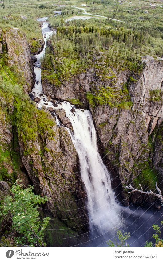 Vøringsfossen Waterfall, Norway Vacation & Travel Tourism Adventure Summer Mountain Hiking Environment Nature Landscape Plant Elements Canyon Fjord Eidfjord