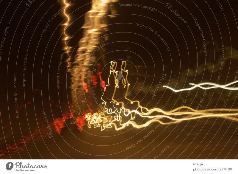 White Red Yellow Brown Background picture Illuminate Visual spectacle Phenomenon Long exposure Tracer path Undulating Undulation Light streak Light track