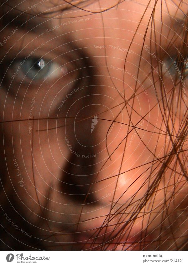 hair Portrait photograph Obscure Human being Hair and hairstyles Face