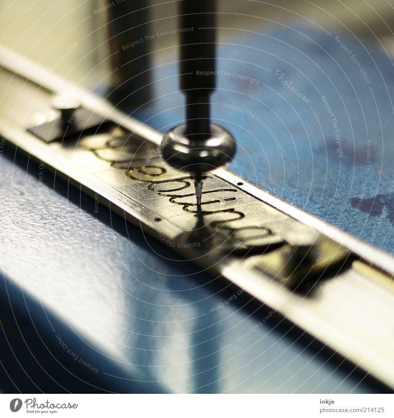 darling Design Goldsmiths Craft (trade) Tool Machinery engraving machine Metal Characters Write Blue Black Emotions Romance Relationship Ease Honey Gravure