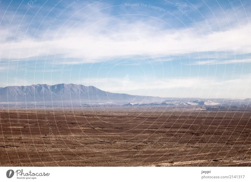 vastness Environment Landscape Earth Sky Clouds Horizon Climate Drought Mountain Desert Peru Gloomy Dry Blue Brown White Freedom Far-off places Colour photo