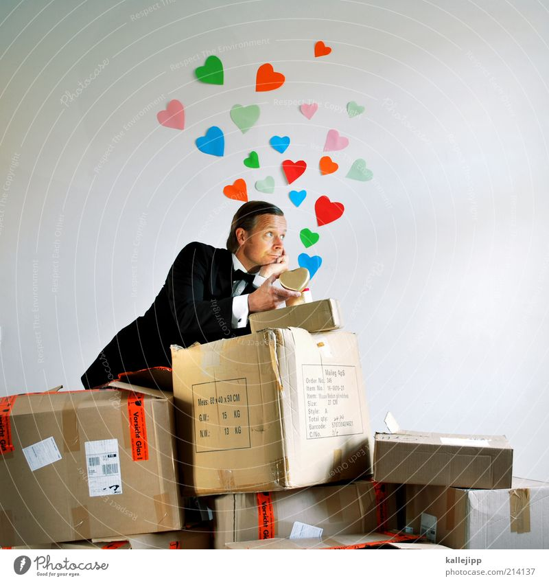 Human being Man Beautiful Adults Love Life Dream Couple Heart Packaging Lifestyle Romance Longing Sign Suit Partner