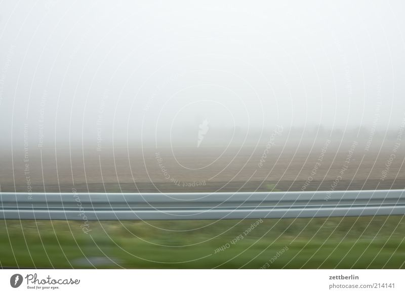 Landscape Bright Field Road traffic Fog Background picture Speed Perspective Driving Motoring Haze Dreary In transit Roadside Crash barrier