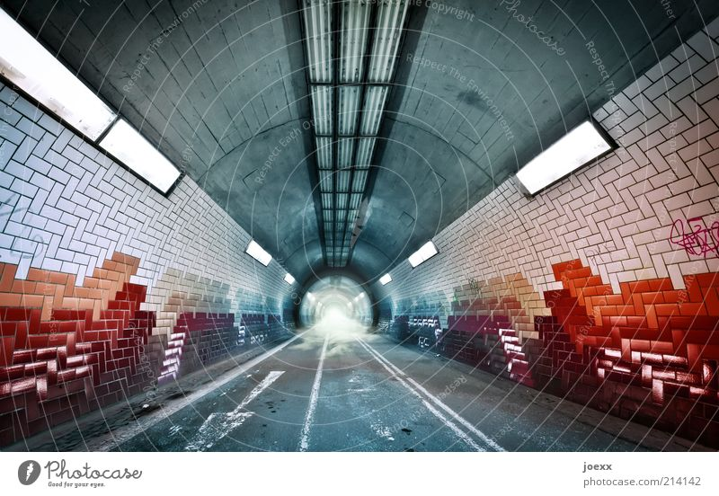 You Tube Deserted Tunnel Traffic infrastructure Lanes & trails Sign Road sign Line Arrow Fog Tübingen bicycle tunnel Pipe Lighting Ground fog Tile mini plug