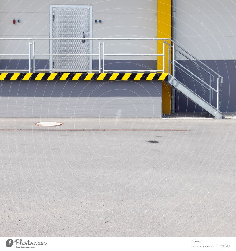 cold store Trade Logistics House (Residential Structure) Places Manmade structures Wall (barrier) Wall (building) Stairs Facade Door Concrete Signs and labeling