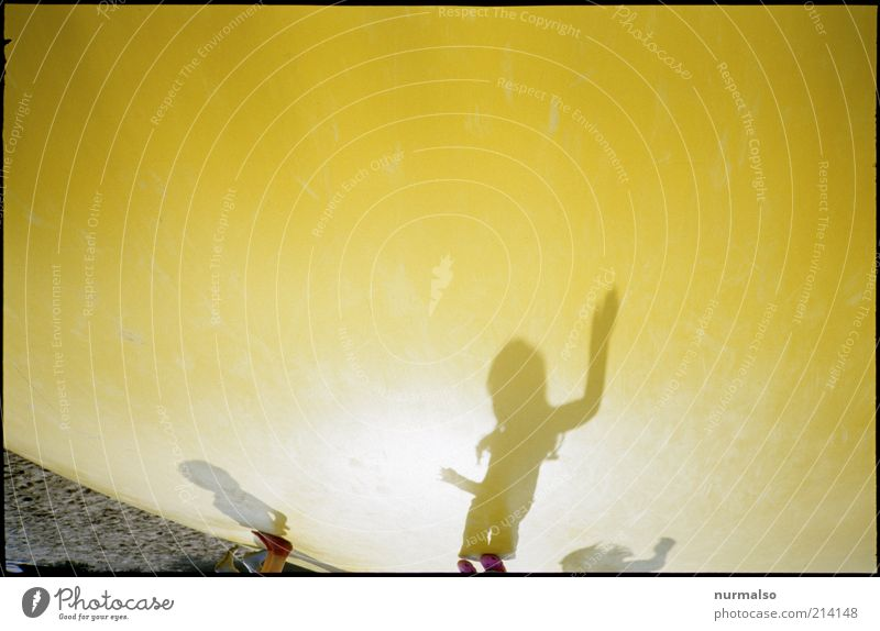 Human being Youth (Young adults) Vacation & Travel Joy Yellow Environment Playing Jump Infancy Power Leisure and hobbies Flying Happiness Lifestyle Sign Beautiful weather