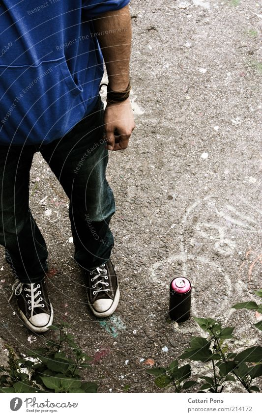 Human being Youth (Young adults) Masculine Stand Chucks Anonymous Artist Partially visible Section of image Man Tagger Unidentified Unrecognizable Young man Spray can