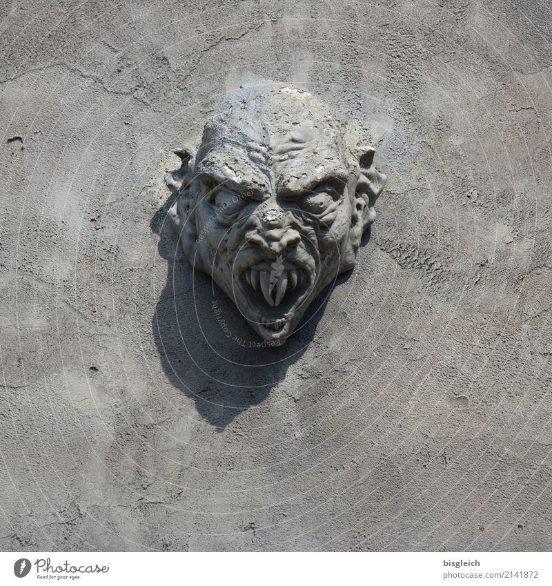 Head Gray Threat Teeth Sculpture Monster Dracula