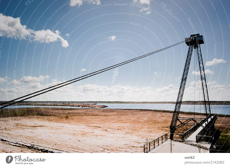 toy Environment Nature Landscape Air Water Sky Clouds Horizon Beautiful weather Lakeside Bridge Safety Concrete Metal Idyll Far-off places Soft coal mining