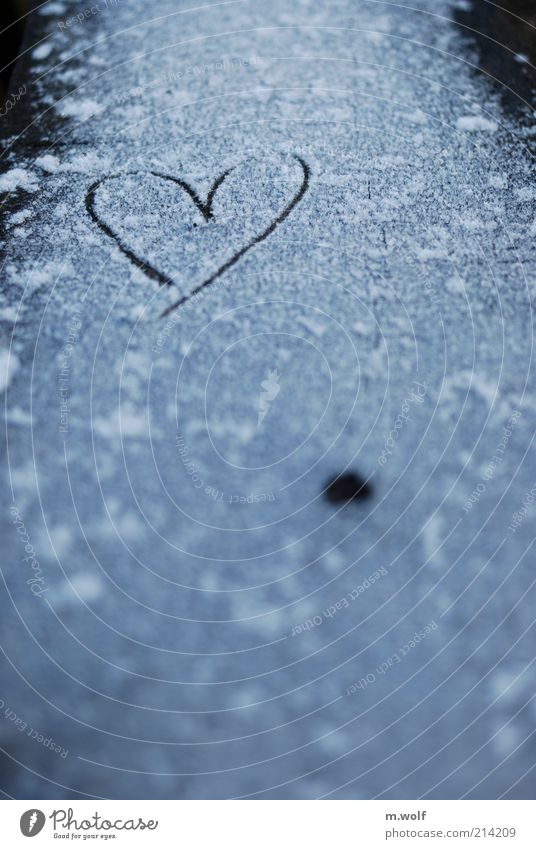 White Love Black Dark Cold Snow Emotions Wood Ice Moody Heart Tracks Sign Frozen Snowflake Dank