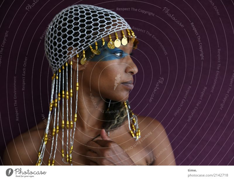 . Make-up Feminine Woman Adults 1 Human being pearl cap Braids Observe To hold on Looking Beautiful Passion Watchfulness Self Control Life Curiosity Interest