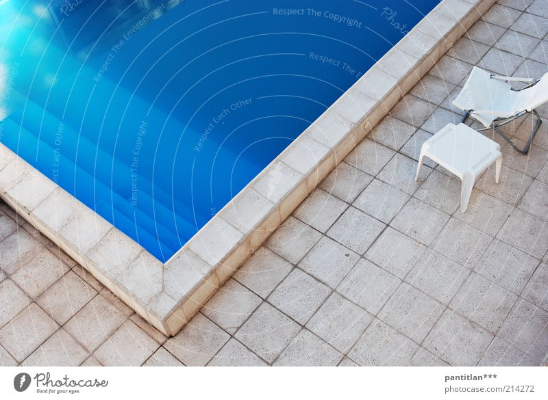 uspallata Wellness Relaxation Calm Spa Vacation & Travel Summer Water Beautiful weather Deserted Swimming pool Terrace Stone Blue Esthetic Leisure and hobbies