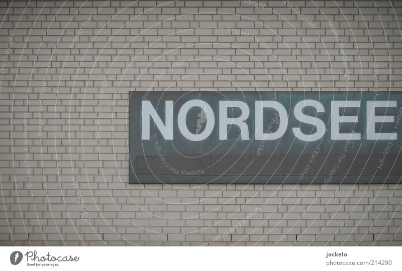 Gray Stone Concrete Facade Signs and labeling Gloomy Letters (alphabet) Simple Signage North Sea Brick Hideous Text Brick wall Capital letter