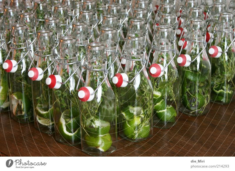 Green Red Herbs and spices Wood Fruit Glittering Glass Glass Medicinal plant Packaging Bottle Many Multicoloured Cap Self-made Lime
