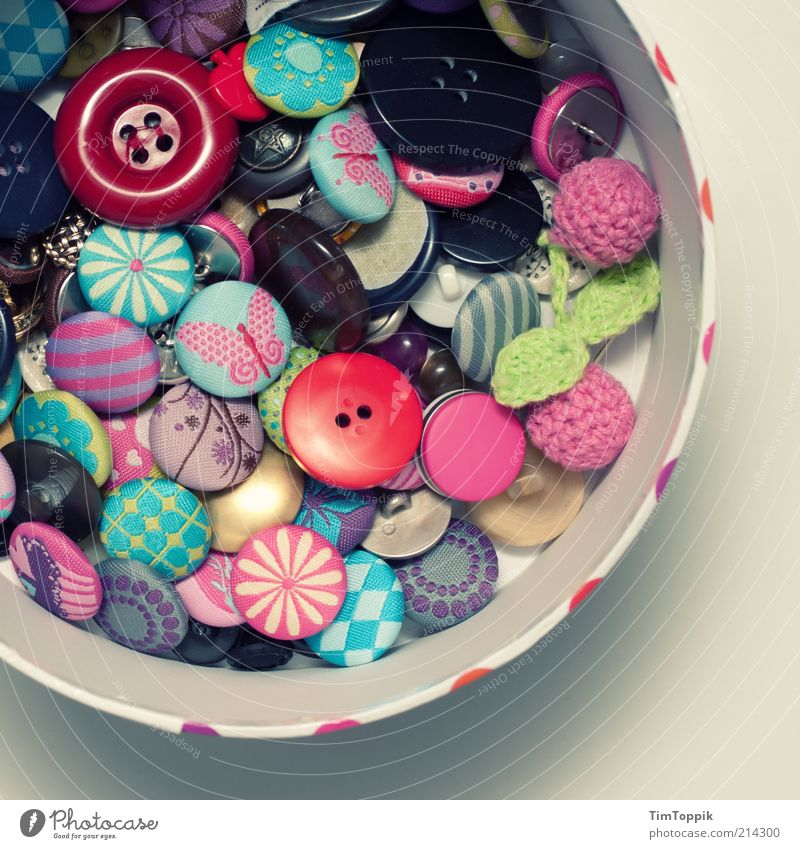 Colour Arrangement Multiple Leisure and hobbies Decoration Box Plastic Pattern Many Collection Multicoloured Packaging Difference Buttons Carton