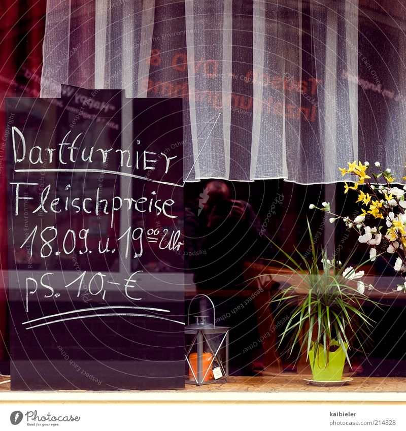 Flower Red Window Signs and labeling Retro Characters Kitsch Decoration Restaurant Blackboard Gastronomy Curtain Price tag Roadhouse Conventional