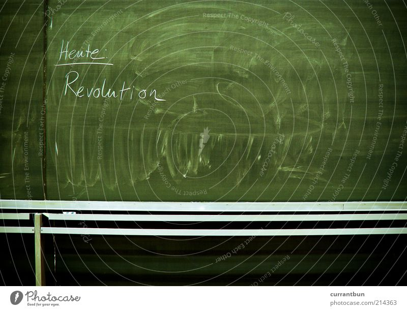 Green Characters Letters (alphabet) Exceptional Symbols and metaphors Blackboard Chalk Present Day Revolution Demand