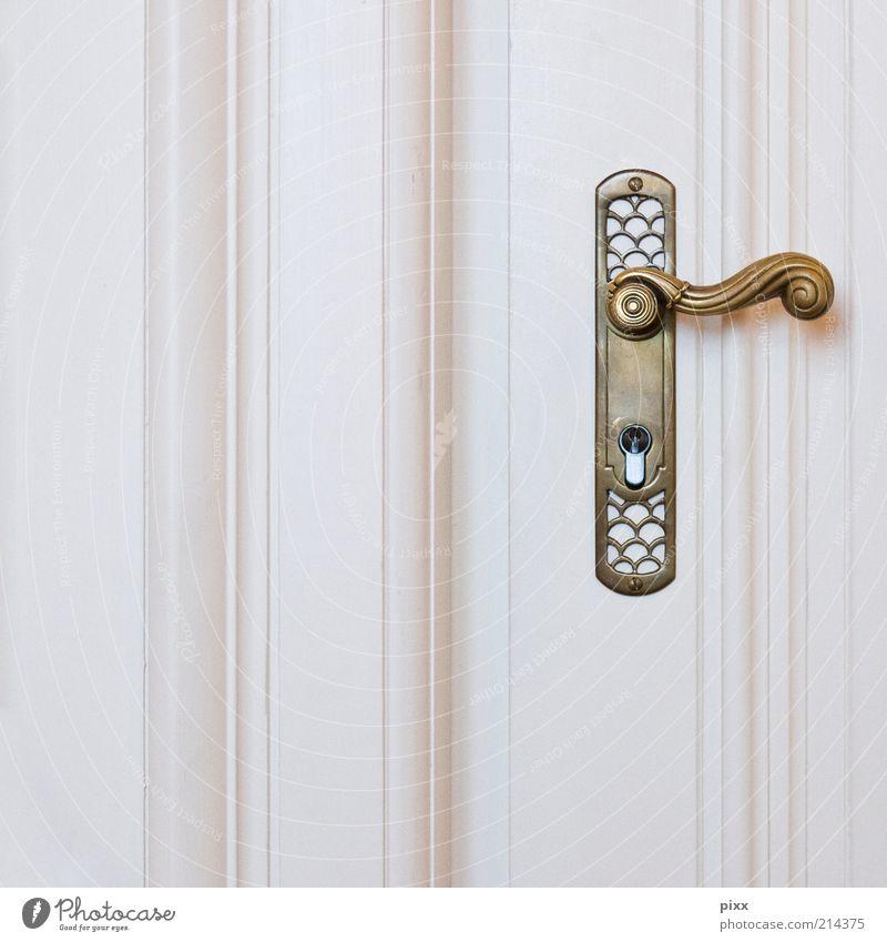 Old White Style Wood Metal Door Gold Elegant Closed Lifestyle Esthetic Retro Kitsch Historic Still Life