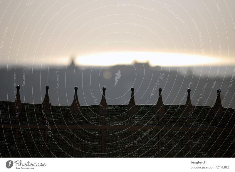 Castel Gandolfo / Italy Europe Village Deserted Tourist Attraction Gray Fence Calm Colour photo Subdued colour Exterior shot Copy Space top Evening Twilight