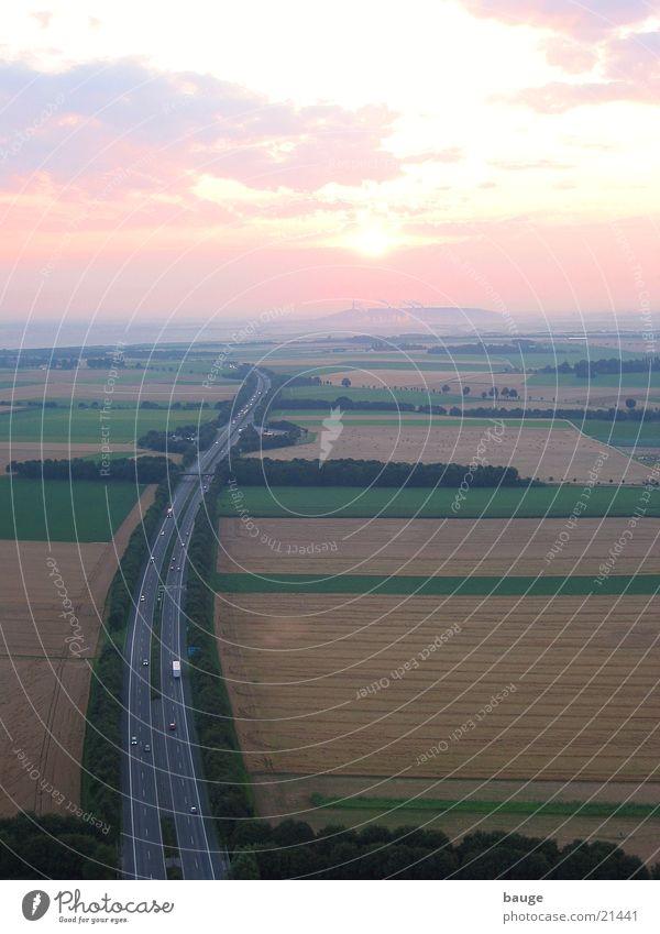 Fog Grain Highway Electricity generating station Mining Lignite Niederrhein Balloon flight