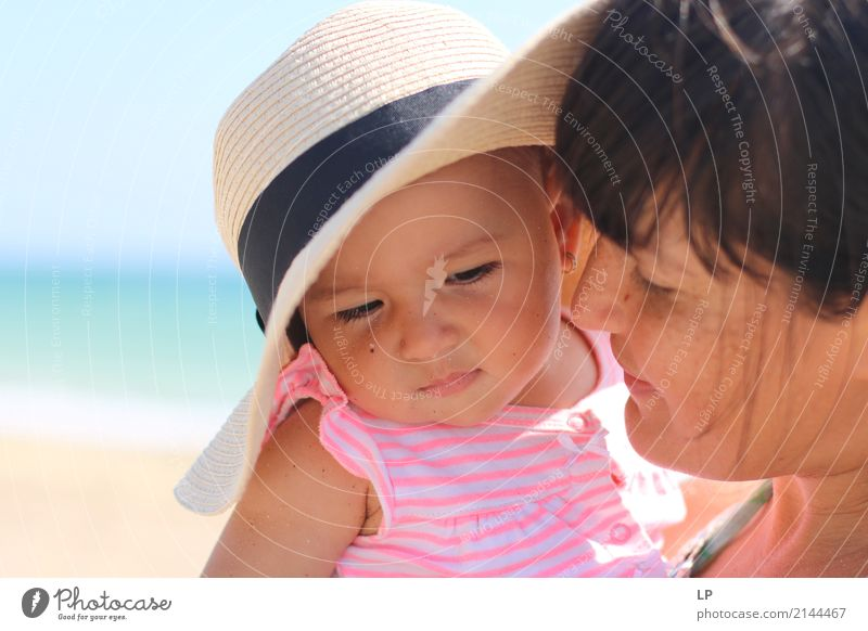 mother looking with admiration at baby child Lifestyle Beautiful Vacation & Travel Living or residing Mother's Day Parenting Education Human being Child Baby
