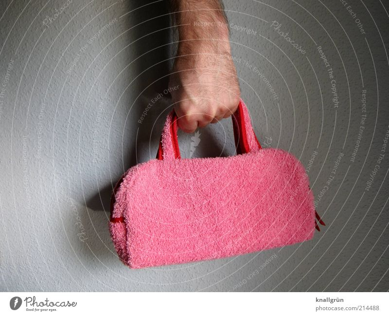 Yikes! Lifestyle Elegant Style Hand 1 Human being Bag Exceptional Cool (slang) Hip & trendy Uniqueness Kitsch Crazy Pink Emotions Self-confident Design
